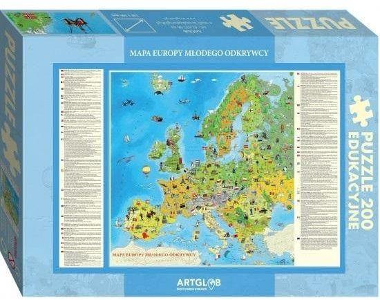 Puzzle 200 Europa Młodego Odkrywcy - ArtGlob