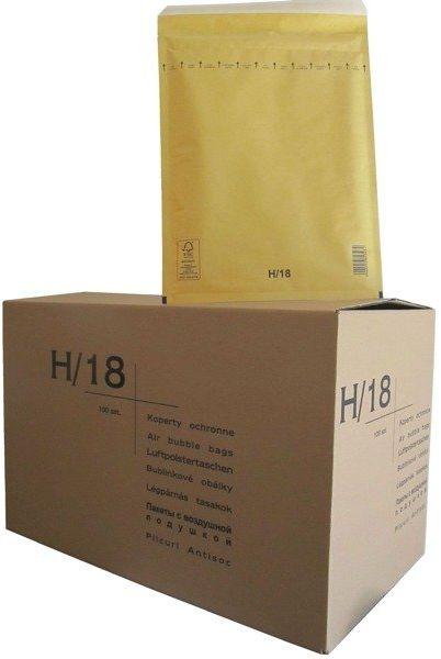 Koperty bąbelkowe H/18 270 x 360 brązowe 100 szt.