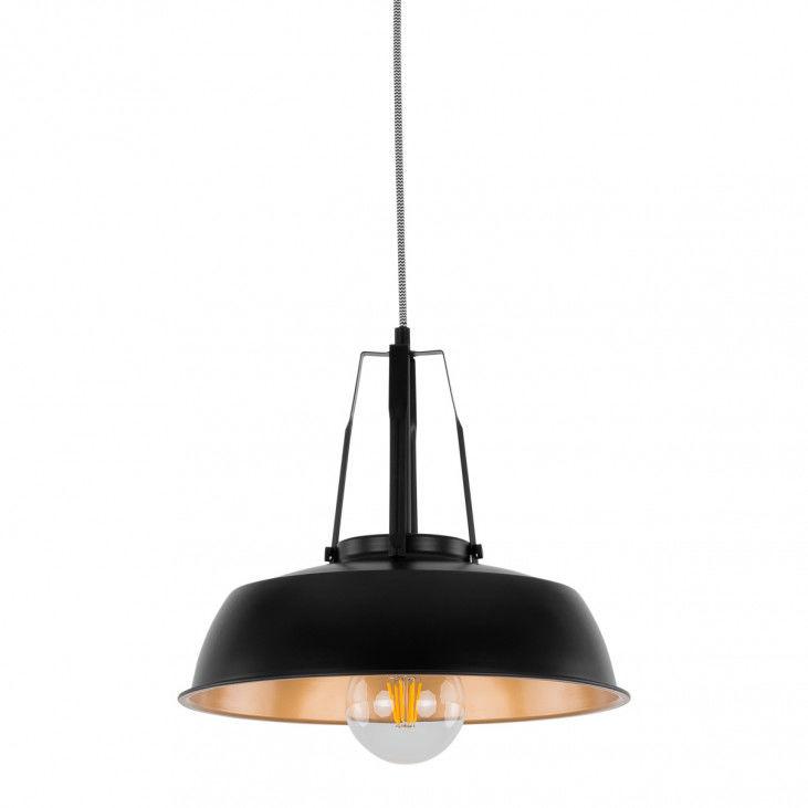 Lampa wisząca nowoczesna kuchenna Paloma MDM-3619/1M BK+GD czarna lampa wisząca Italux
