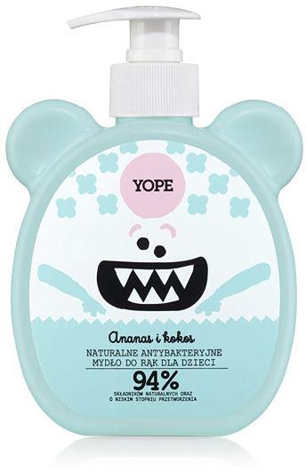 YOPE Antybakteryjne mydło do rąk dla dzieci Ananas i kokos 400 ml