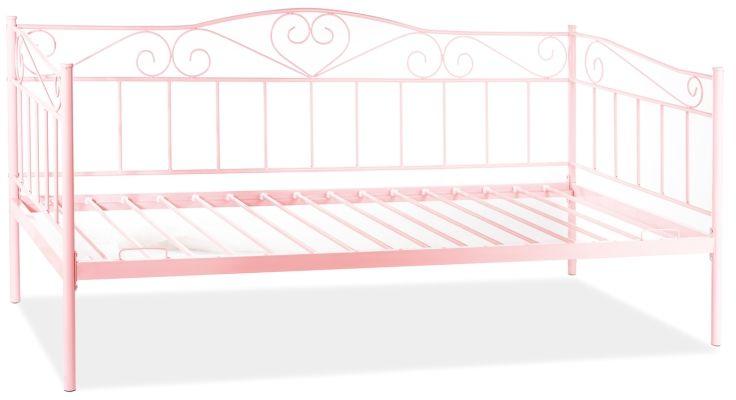 Łóżko BIRMA różowe metalowe młodzieżowe  KUP TERAZ - OTRZYMAJ RABAT