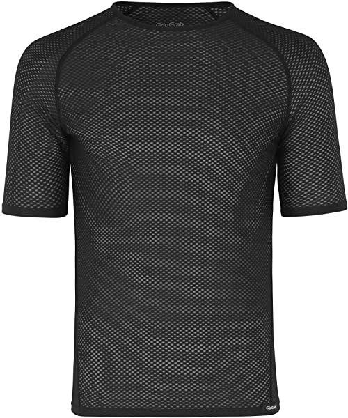GripGrab Uniseks  ultralekki podkoszulek dla dorosłych, z krótkim rękawem, Cool Mesh, koszulka funkcyjna, bez zapachu, na lato, do jazdy na rowerze, kolor czarny, S