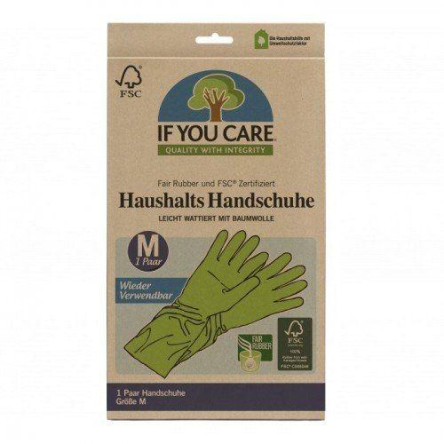 IF YOU CARE Wielorazowe Rękawiczki Lateksowe FAIR RUBBER 1 Para Rozmiar M