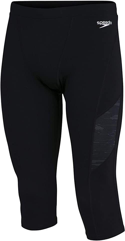 Speedo Męskie spodnie sportowe 3/4 Swimsuit Separates Czarny/Oxid Grey XS