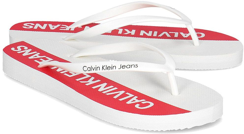 Calvin Klein Jeans Dori Jelly - Japonki Damskie - R7783 MULTI WHITE - Biały