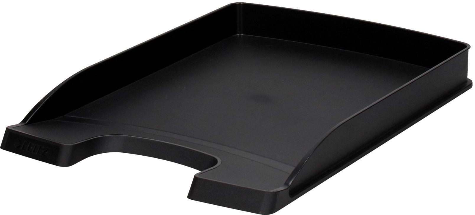 Półka dokumenty A4/wys37mm czarna Slim Leitz