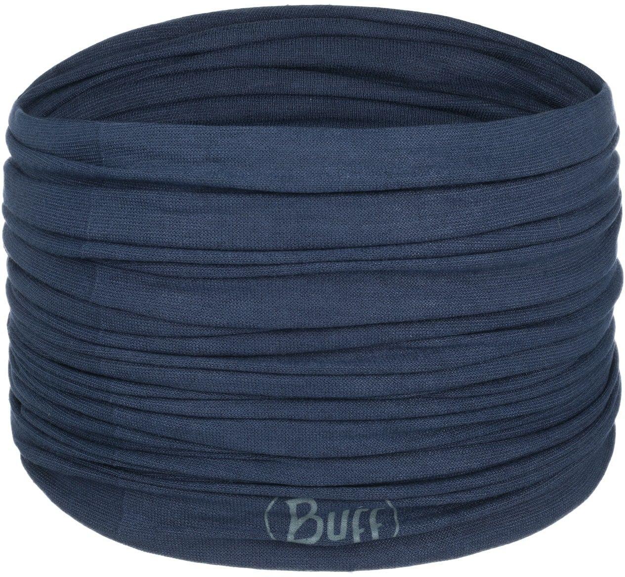 Solid Night Blue Multifunctional Bandana by BUFF, ciemnoniebieski, One Size