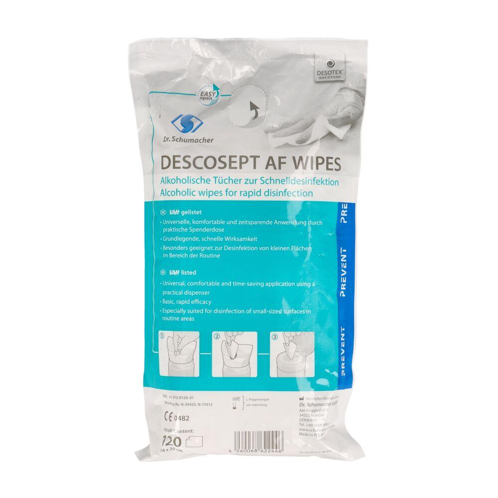 Chusteczki alkoholowe Descosept AF Wipes - wkład uzupełniający (Dr. Schumacher)
