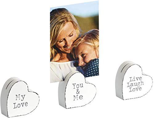 walther design klips do zdjęć, biały, serce 2 x 2 cale (5 x 5 cm)