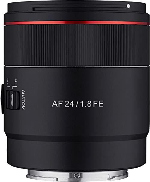 Samyang AF 24 mm F1.8 Sony FE Tiny but Landscape Master - autofokus pełnoklatkowy i szeroki kąt APS-C obiektyw stałoogniskowy do Sony E, FE, E-Mount do Sony Alpha A9 A7 A7c A6000 A500 Nex