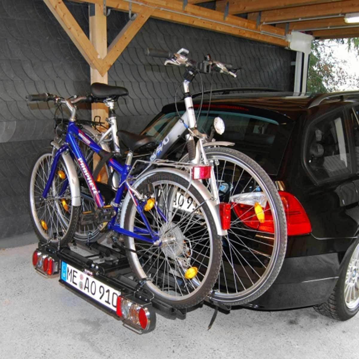 Składany bagażnik na rowery EUFAB POKER-F uchwyt na hak + torba