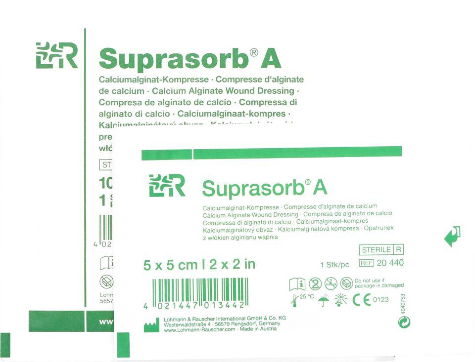 Opatrunek z włókien alginianu wapnia Suprasorb A (LR)