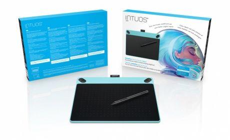 Tablet graficzny Wacom Intuos Art M (A5) CTH-690AB niebieski + oprogr. + kurs obsługi PL