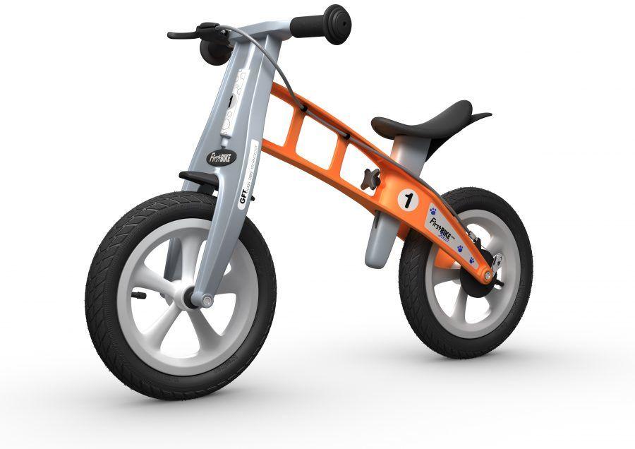 Rowerek biegowy FIRST BIKE STREET /pomarańczowy/