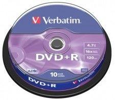 DVD+R 4,7GB x16 VERBATIM Azo 10szt