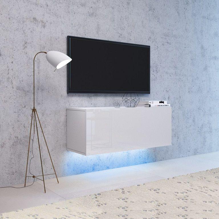 Szafka wisząca RTV NEXA 100 biały-biały połysk LED