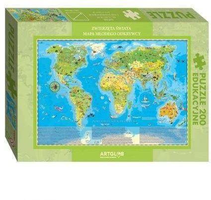 Puzzle 200 Zwierzęta Świata Młodego Odkrywcy - ArtGlob
