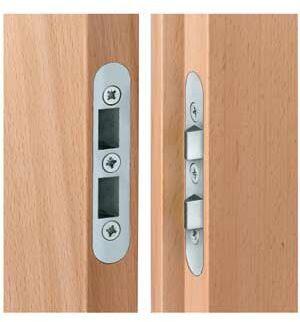 Zabezpieczenie drzwiowe nr 205 ocynk srebrny