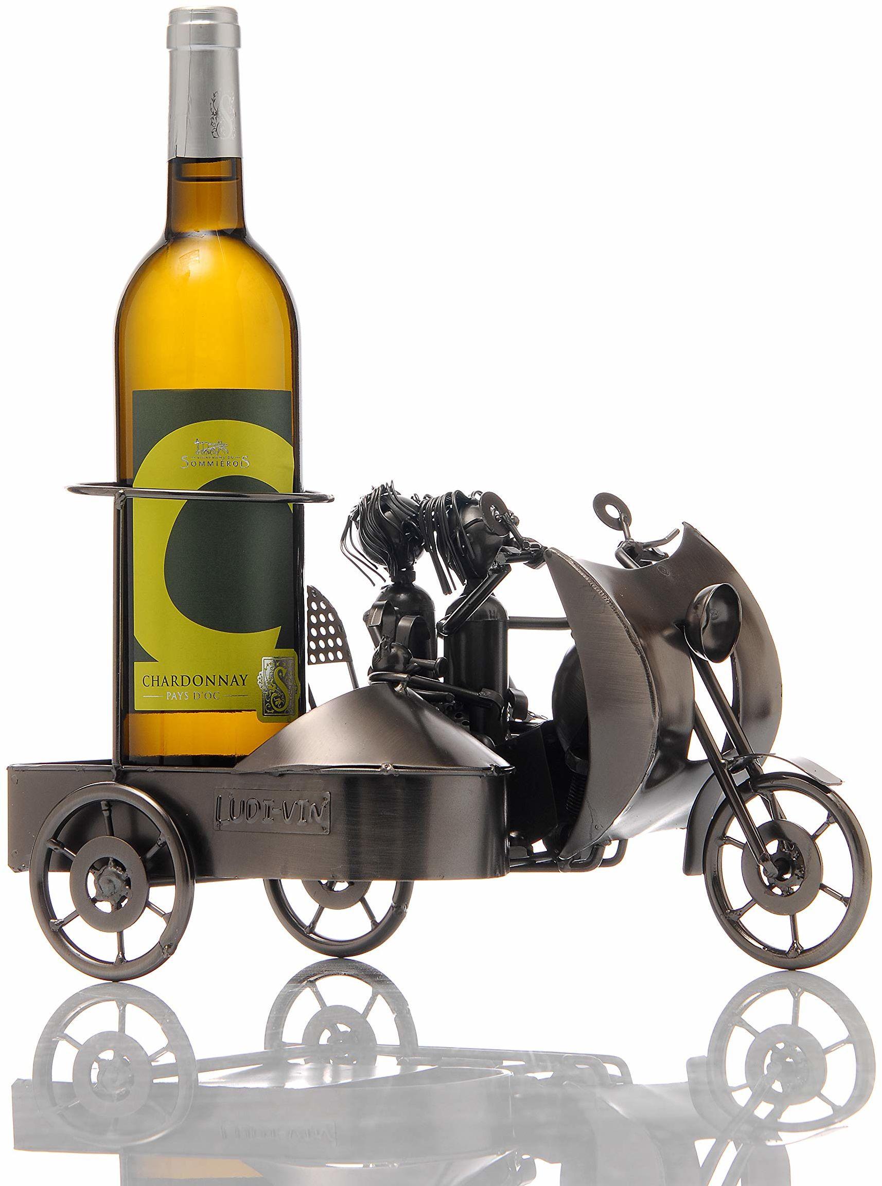 ludi-vin 5060388470487 metalowy uchwyt na butelki 31 x 20 x 18,5 cm