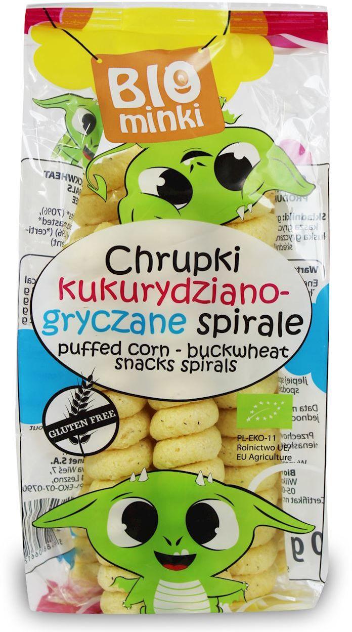 Chrupki Kukurydziano-Gryczane Spirale bezglutenowe BIO 60g - Biominki