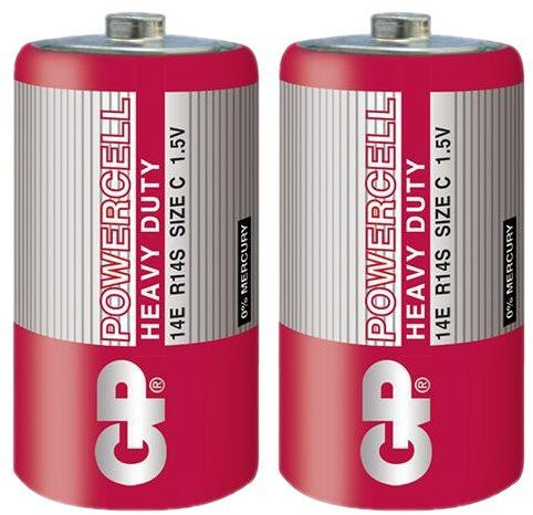 2 x bateria cynkowo-węglowa GP PowerCell R14 C (taca)