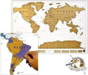 Mapa do ścierania - świat Deluxe