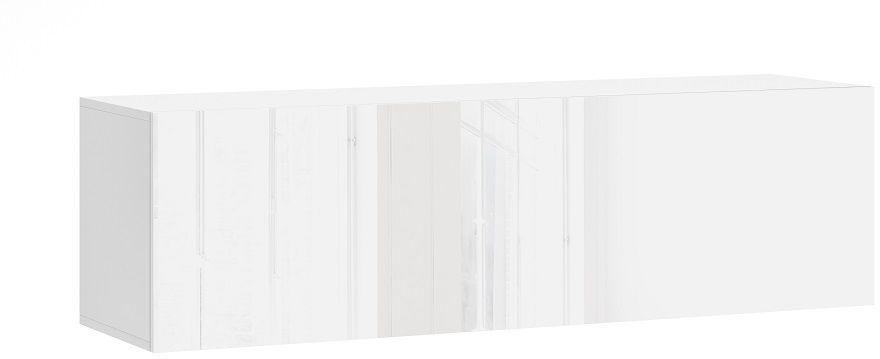 Szafka wisząca RTV NEXA 140 biały-biały połysk