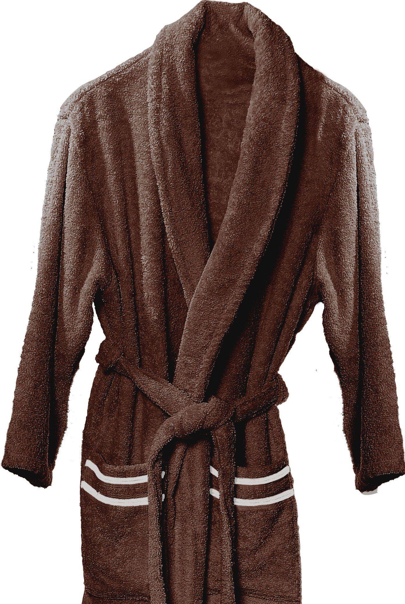 Atenas Home Textile Altea szlafrok kąpielowy z bawełnianego frotte, rozm. M, 100% bawełna, 320 g/m , beżowy/brązowy duży brązowy/beżowy
