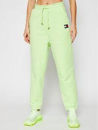 Tommy Jeans Spodnie dresowe Tjw Hrs Badge DW0DW09740 Zielony Relaxed Fit