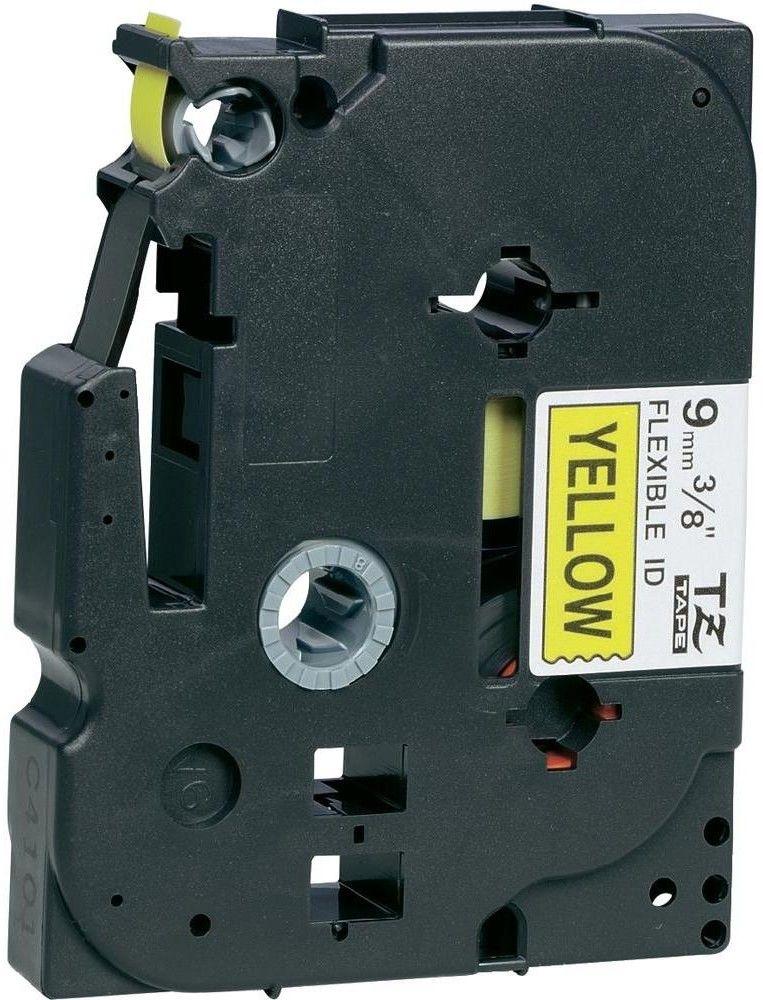 Brother TZe-FX621 Flexi ID taśma, nadruk czarny na żółtym tle, 9 mm, oryginalna