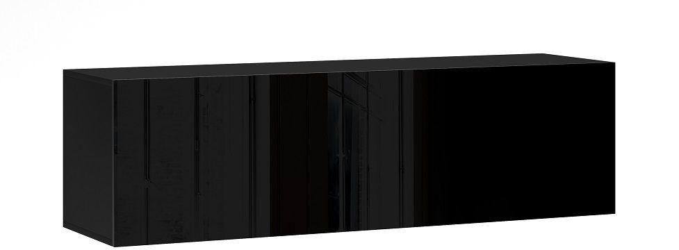 Szafka wisząca RTV NEXA 140 czarny-czarny połysk