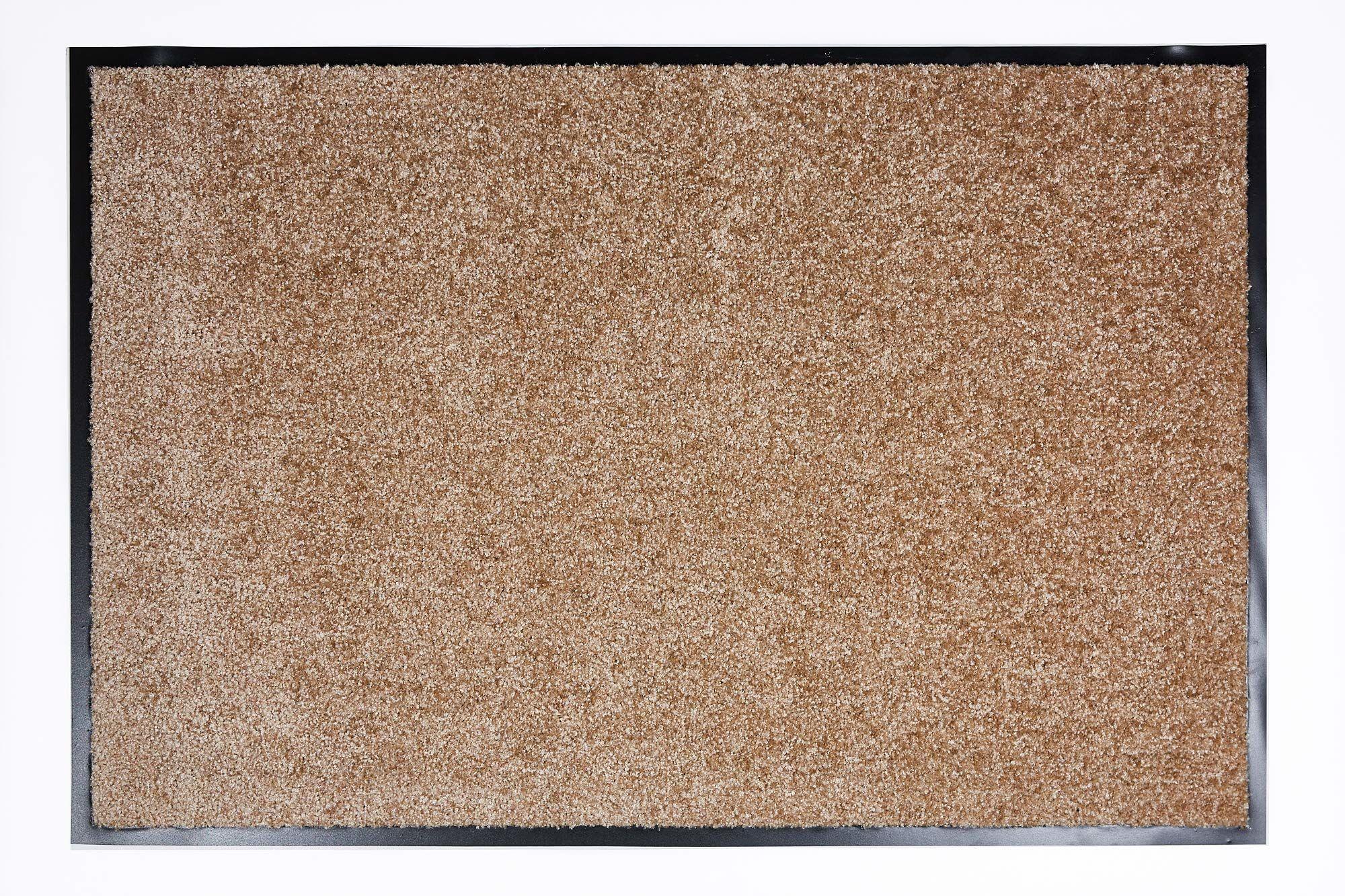 Proper Tex Uni mata zatrzymująca brud / mata na drzwi / wycieraczka / wytrzymała / trwała / do wnętrz - piaskowa - 60 x 90 cm