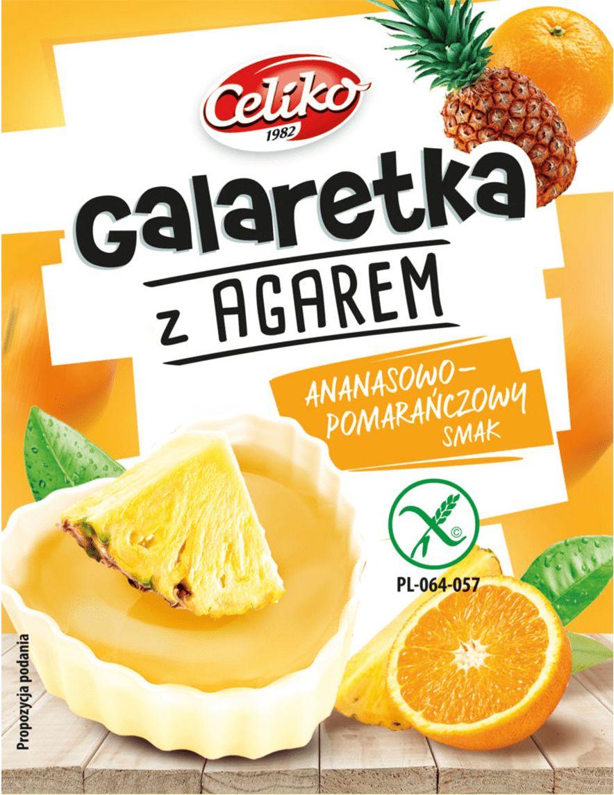 Galaretka Ananasowo Pomarańczowa z Agarem bezglutenowa 45g - Celiko