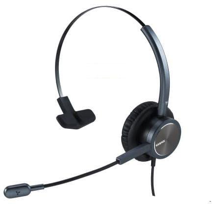 Kronx KX-8009B słuchawki przewodowe dla Call Center z reducja szumów