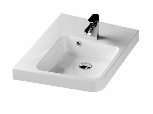 Ravak BeHappy II umywalka biała lewa 50 cm XJAL1100001