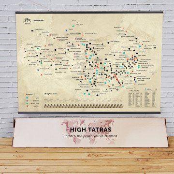 Mapa Zdrapka Tatry Wysokie
