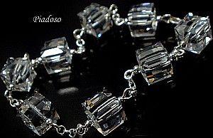 PROMOCJA Swarovski Bransoletka Srebro Crystal