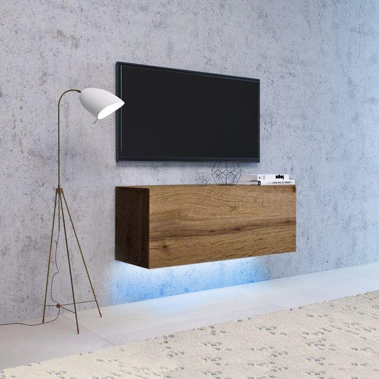 Szafka wisząca RTV NEXA 140 dąb wotan LED