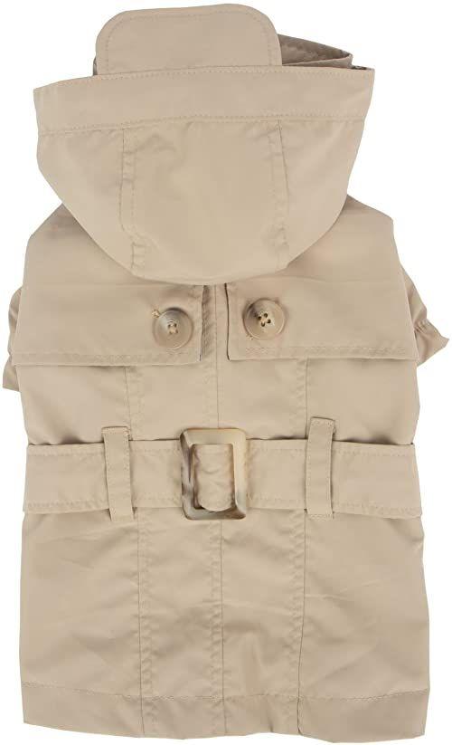Pinkaholic New York NARA-RM7321-BE-M Beżowy płaszcz przeciwdeszczowy Claris Płaszcz przeciwdeszczowy dla zwierząt domowych, średni