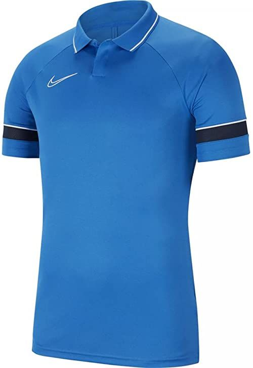 Nike Męska koszulka polo Academy 21 niebieski Royal Blue/White/Obsydian/White L