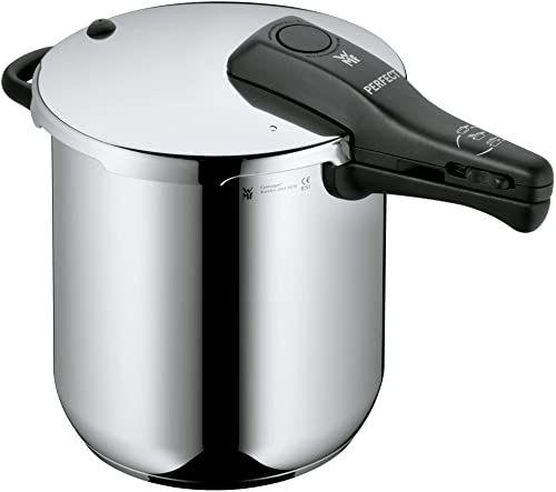 WMF Perfect szybkowar indukcyjny 8,5 l, szybkowar, stal nierdzewna Cromargan, 2 poziomy gotowania, regulator gotowania jedną ręką