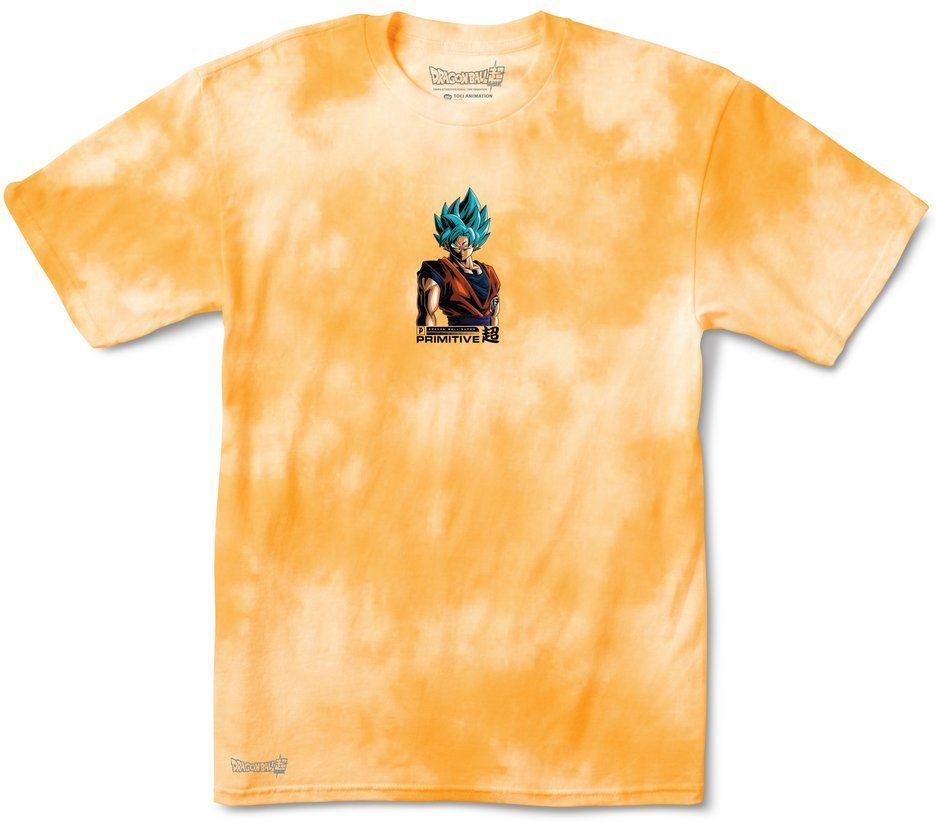 t-shirt męski PRIMITIVE (DRAGON BALL SUPER) SHADOW GOKU WASHED TEE Orange