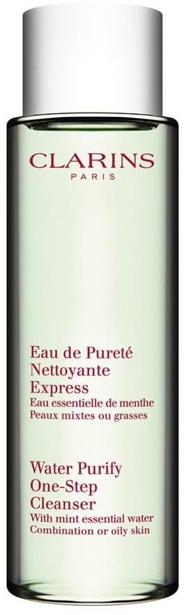 Clarins Water Purify One-Step Cleanser with Mint Essential Water - woda do demakijażu do cery mieszanej 200 ml
