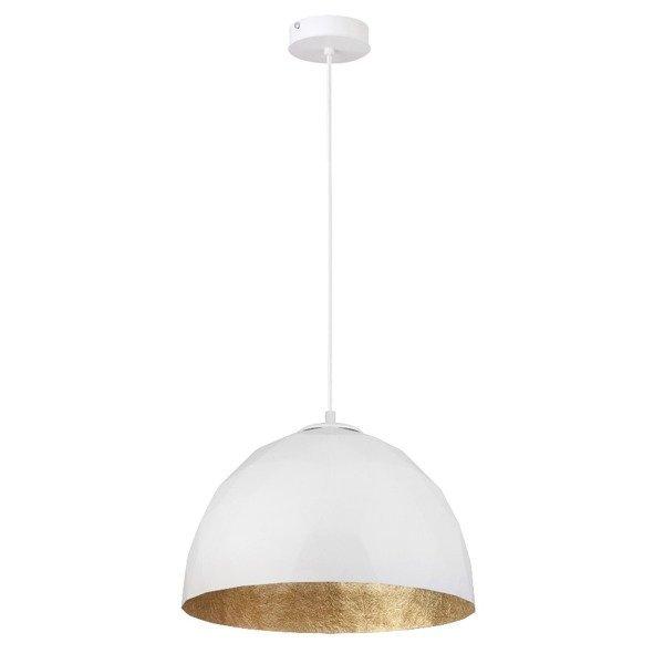 Lampa wisząca DIAMENT biało - złota 35cm
