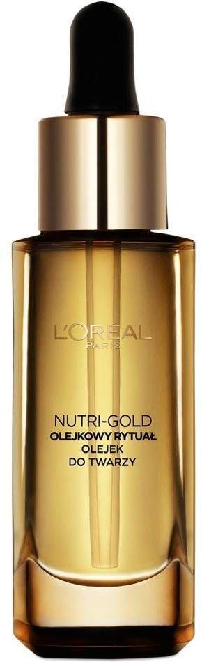 Loreal Dermo Nutri Gold Olejkowy Rytuał Olejek odżywczy do twarzy 30ml