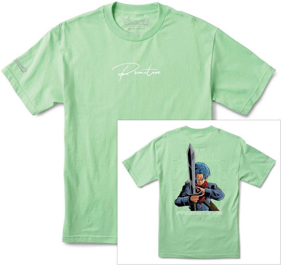 t-shirt męski PRIMITIVE (DRAGON BALL SUPER) SHADOW TRUNKS TEE Mint