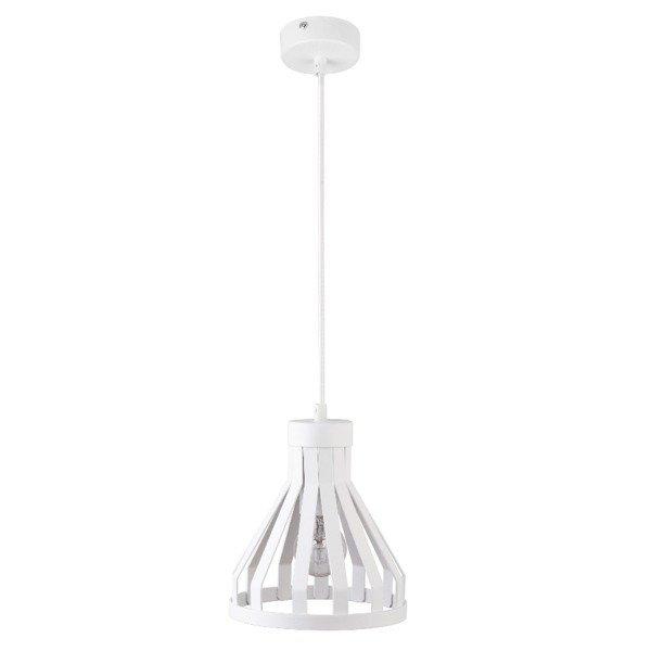 Lampa wisząca KOLA biała z drutu 18cm