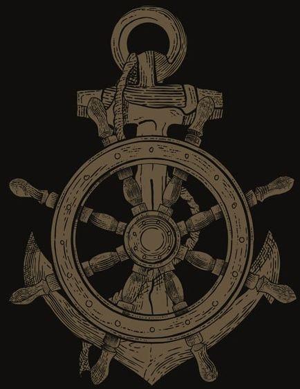 Koło i kotwica ii - plakat wymiar do wyboru: 42x59,4 cm