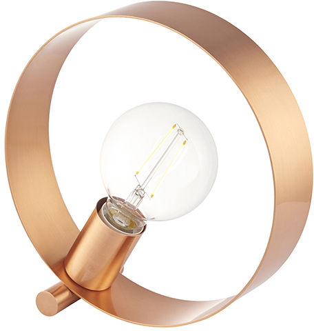 Lampa biurkowa Hoop 90455 Endon miedziana oprawa w stylu nowoczesnym