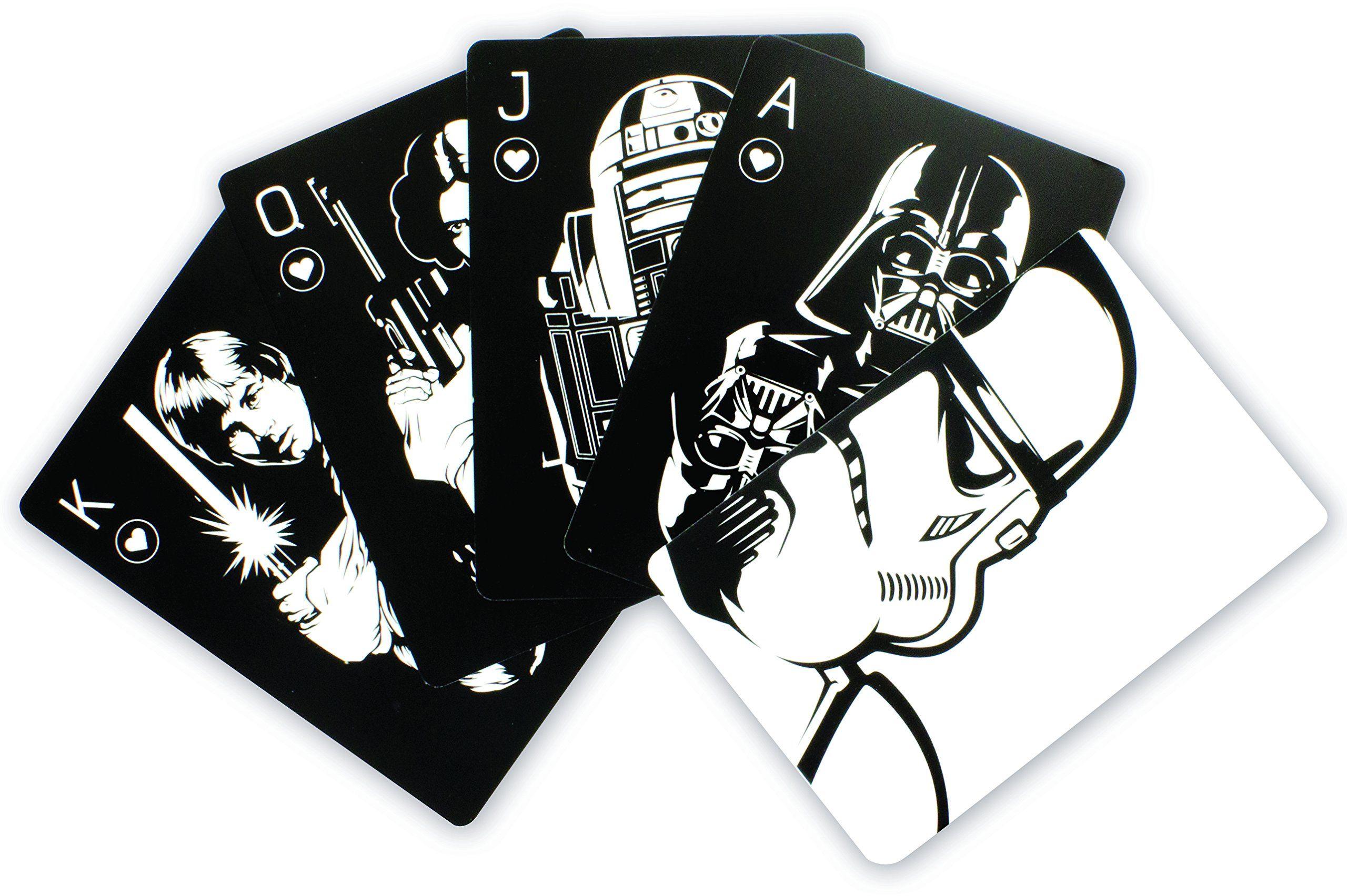 Paladone PP4148SW Gwiezdne Wojny karty do gry z puszką Stormtrooper oficjalnie licencjonowany produkt Disney
